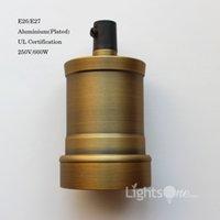 Wholesale Factory Loft Vintage Retro Plated Edison socket holder E26 E27 UL V V Aluminium Lamp Base LB