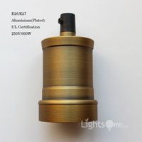 aluminium sockets - Factory Loft Vintage Retro Plated Edison socket holder E26 E27 UL V V Aluminium Lamp Base LB