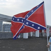Wholesale 90 CM Two Sides Printed National Polyester Flag Confederate Rebel Civil War Flag New Arrival