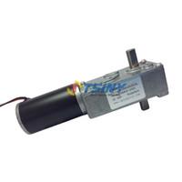 DC Motor worm reducer - 24V dc rpm kg cm High torque worm dc geared reducer motor of Biaxial shaft