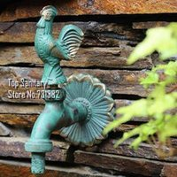 Wholesale TB9040 Decorative outdoor faucet rural animal shape garden Bibcock with antique bronze Rooster tap