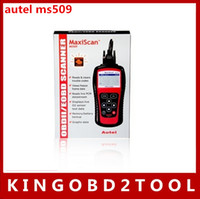 Wholesale Universal Car Vehicle Engine Fault Diagnostic Scanner Tool original autel MaxiScan OBD OBDII OBD2 MS509 Scanner Code Reader free dhl