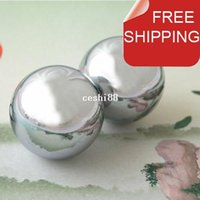 Wholesale Polished baoding iron ball mm chime health ball chrome Simple design for daily use Red paper box Optional mm mm available