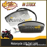 Wholesale Motorcycle Integrated Turn Signal Clear Brake Rear LED Tail Light fit for Ducati Monster
