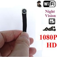 Wholesale 2016 New Arrival HD Wifi Spy Hidden Mini Night Vision Camera P Wirless CCTV security micro camera IR Micro Cameras