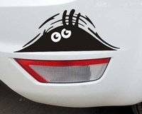 Wholesale New peeking black cute Monster for Cars Walls Funny Sticker Graphic Vinyl Car Decals hot sell