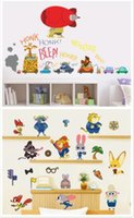 Wholesale 50pcs new arrive designs Zootopia wall stickers cartoon D wallpapers wall decals children removable PVC wallpaper baby room D602