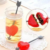 best sweet plastics - Top quality Creative Hot Fashion Sweet Heart Shape Valentine Best Gift Tea Filter Infuser Teapot