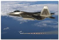 air force life - Air Force Silk Poster f Raptor Aircraft Military Fighter Jet x36 inches