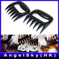 Wholesale 200 Pairs Grizzly Bear Paws Claws Meat Handler Fork Tongs Pull Shred Lift Toss Pork BBQ Meat Claws