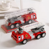 Cheap Copter Toys Wooden Toys Diecast Car Model Toys For Children New Fire Truck Vehicle Building Set with Fire Chief Motorcycle and Accessories