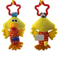 dog stroller - 3 Styles Duck Fawn Dog Baby Toys Rattle Tinkle Hand Bell Multifunctional Plush Stroller Cute Stuffed Plush Toy