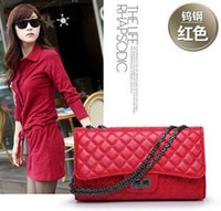 best china handbags - China Famous Brand Best Quality Vintage Plaid Chain Bag Women Leather Handbags