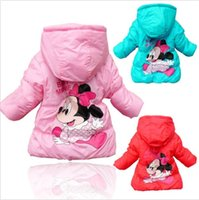 Wholesale Mickey Minnie Kid Baby Girls Snowsuit Long Sleeve Coat Cotton Outerwear Clothes t DH04