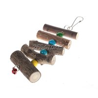 Wholesale Small Size Natural Fruits Wood Pet Chews Gnaw Stick Parrot Stick Colored Balls with Skin order lt no track