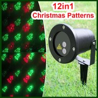 ac snow - Small Outdoor Christmas Tree Santa Snow Bell in1 waterproof green red laser lighting strobe light with remote controller