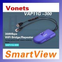 achat en gros de vonets répéteur-Genuine Vonets VAP11G-300 Répéteur sans fil Wifi 802.11n / b / g Amplificateur de réseau 300Mbps 2dbi Antennes Signal Boosters 30pcs