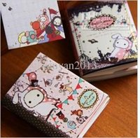 Wholesale Freeshipping Lovely Rabbit Notepad Memo Pads fold note memo Writing scratch pad note sticker Korean style
