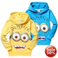 baby girl tees - 2016 Hot Despicable Me minions boys clothes girls nova shirts child Spring hoodies Tops Tee Baby Sweatshirts Coats Spring Autumn Minion
