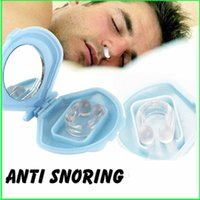 Wholesale 1Pcs Silicone Anti Snore Ceasing Stopper Anti Snoring Free Nose Clip Health Sleeping Aid Equipment