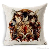 Wholesale Attack on Titan no Kyojin Printed Jpanese Anime Decorative Pillowcase Pillow Cover x45cm Best Gift For Kids Friends Plush