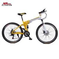 Wholesale 24 speed Mountain bike folding bicycles brand XIRUI bikes inch Magnesium alloy wheels bikes frame red X6 kids Road bicycle
