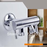 Wholesale Triangle valve faucet sub valve toilet double spray gun valve