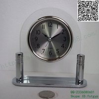 bevel shape - Glass bell factory direct brushed metal L shaped quartz glass bevel glass bell alarm bell rings