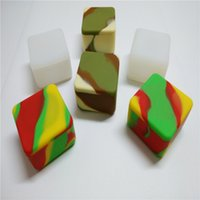 Wholesale 10x Big Square Silicone Non Stick Ml Wax Jar Silicone Jars Dab Wax Vaporizer Oil Container Silicone Container