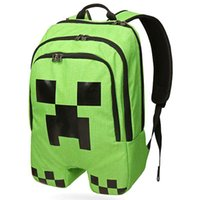 hello kitty school bag - NEW Minecraft backpack game creeper backpack children school bags boys mochila double shoulder bag block coolie kids school bag