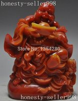Wholesale chinese man made Shoushan stone Buddhism Gourd Happy Maitreya Buddha statue