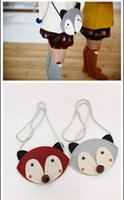 baby wallets - 2015 baby cute fox bag HOT FOX purse Handbag wallet CM children girls Fashion cartoon one side Bags colors CY2943