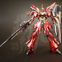 bandai toys gundam - Anime Plating color series BANDAI HG MSN S Sinanju gundam model CM Puzzle assembled Robot boy action figure toys gift