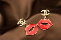 earrings sexy - Fahionable Sexy lips Bridal jewelry classic shell earrings hypoallergenic earrings exquisite Formal models of quality