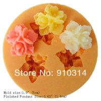 Cheap Cheap Small Size Flower Silicone Fondant Mold Gum Paste Cake Decorating Chocolate Mould W37842