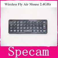 Wholesale 20pcs Newest Mini fly Air Mouse Keyboard GHz Wireless Remote Control Game Accessories for Laptop Android Tablet PC TV Box