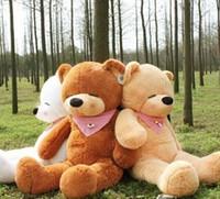 2015 New llegar Grande 1,6 metros Teddy Bear Lovers Big Bear brazos animales rellenos de juguetes de peluche muñeca 1.6CM / 1.4CM / 1.2CM / 1M / 80CM Sleepy Bear