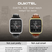 kids belts - Newest Fashion Oukitel A28 Bluetooth Smart Watch MTK2502A inch IPS Heart Rate Monitoring Genuine Leather Belt