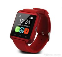 Wholesale 10X Bluetooth Smart Wrist Watch U8 Watches no Altimeter Smartwatch Wristwatch For iPhone Samsung HTC Sony Cell Phones Free DHL