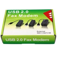 Wholesale USB Fax Modem USB External K Data Voice Fax Modem V90 V92 for Win8 bit System