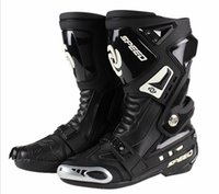 Wholesale PRO BIKER motorcycle road racing boots shoes boots knight boots B1005 contest
