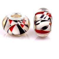 Wholesale 2015 multi colored geometric patterns DIY Beads Pandora charm kinds mixed batch