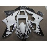 fairing r1 - Simple Cool Fashion White With Black Fire Design Special Motorcycle Bodywork For Yamaha YZF R1 YZF R1 Year ABS Fairing Kit