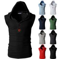 Wholesale Mens Hip Hop Outdoor T Shirt Men colete masculino undershirt Men S Tank Top Sport Vest Vest Bodybuilding Casual Shirt