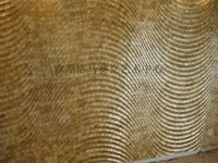 Wholesale Mosaic Ousi Luo natural shell mosaic wavy backdrop golden shell carving decorative mirror plate