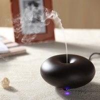 portable nebulizer - Wood Grain Ultrasonic Air Humidifier Aroma Diffuser Aromatherapy Office Purifier Mist Maker W Nebulizer difusor de aroma H14353