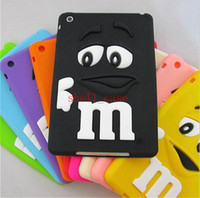 Wholesale 2015 Ipad Soft Silicone M M Fragrance Chocolate Case For ipad mini ipad Tablet M Rainbow Beans Cover Case Free DHL