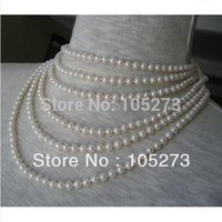 aa estates - Charming Pearl Jewelry AA MM Estate Beautiful Luster Natural Freshwater Pearl White inch Endless Necklace