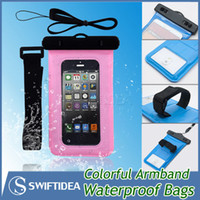 5.8 - For iphone galaxy S6 waterproof phone bags cases PVC phone pouches with bicycle holder universal outdoor sports best qualtiy within quot