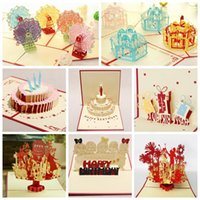 pop up greeting card - Kirigami D Pop up Card For Kids Birthday Greeting Cards set Combination Sale with Birthday Cake